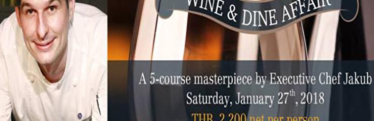 Chef Jakub with Barton & Guestier | Wine & Dine Affair at Sheraton Hua Hin – 27th January 2018