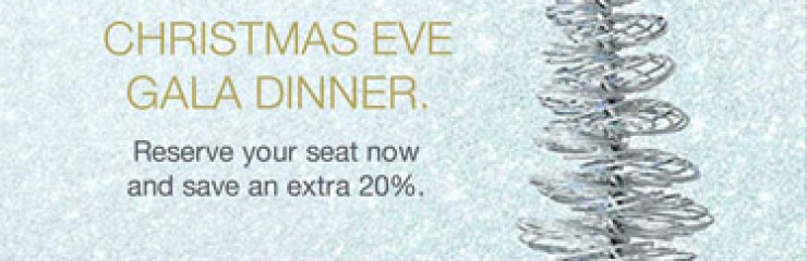 Christmas Eve Gala Dinner Reserve your seat save an Extra 20% at Anantara Hua Hin From now – 6th December 2017