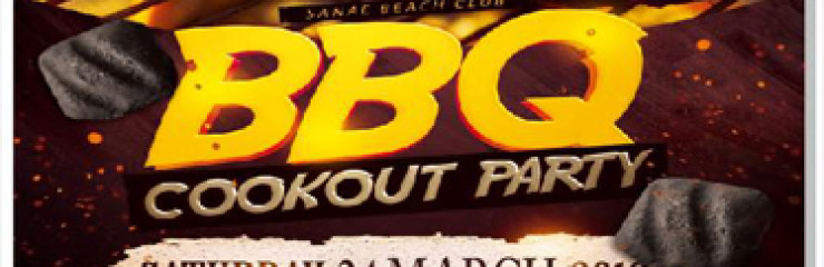 Barbeque Night in Sanae Beach Club!! Saturday 24th of March 2018