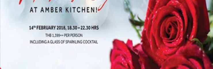 Valentine's Day at Amber Kitchen @ Hua Hin Marriott Resort & Spa – 14th February 2018