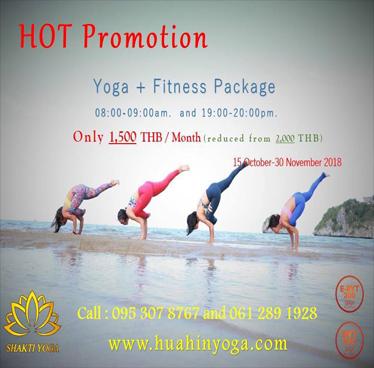 Hot Promotion for Healthy at Shakti Yoga Hua Hin until 30th November 2018