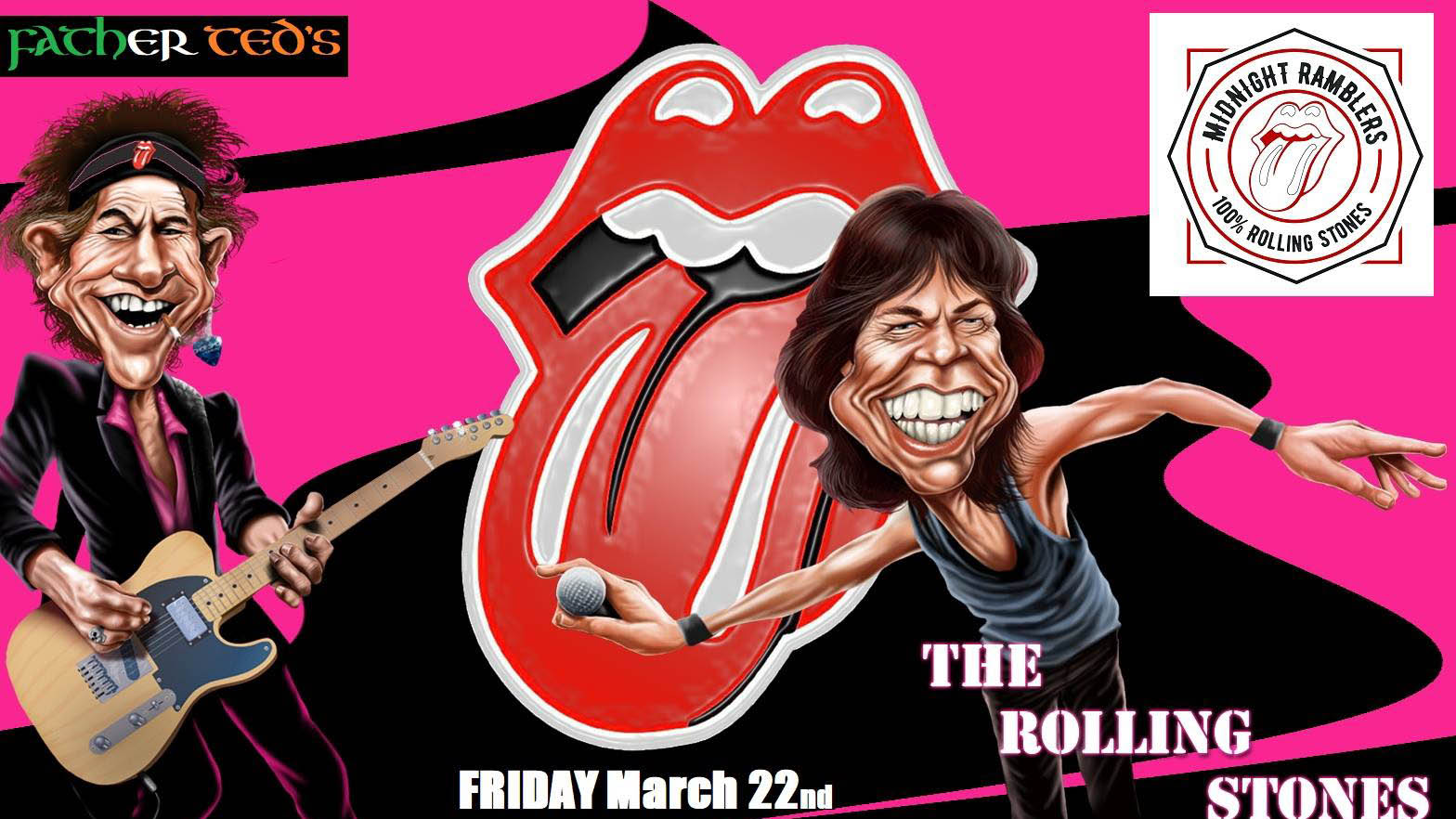 Rolling Stones Tribute Band Live in Ted's at Father Teds