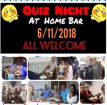 Home Bar Quiz Night On Tuesday 6th November 2018 Inspire Hua Hin