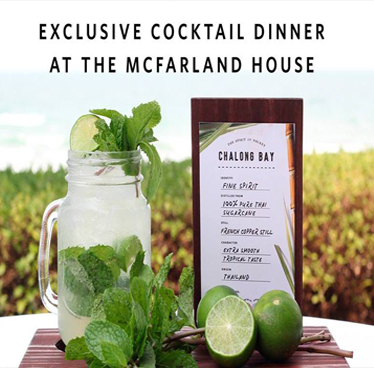 Chalong Bay Cocktail Dinner at McFarland House – 14th September 2018