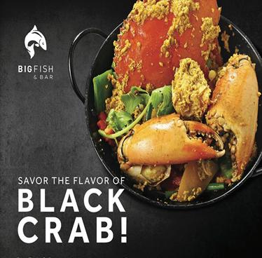 Black Crab at Big Fish & Bar by Hua Hin Marriott Resort & Spa Daily until 31st August 2018