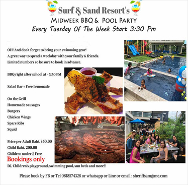 Midweek BBQ & Pool Party at Surf & Sand Resort Every Tuesday