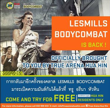 CLASS LESMILLS BODYCOMBAT at True Arena Hua Hin of February 2018