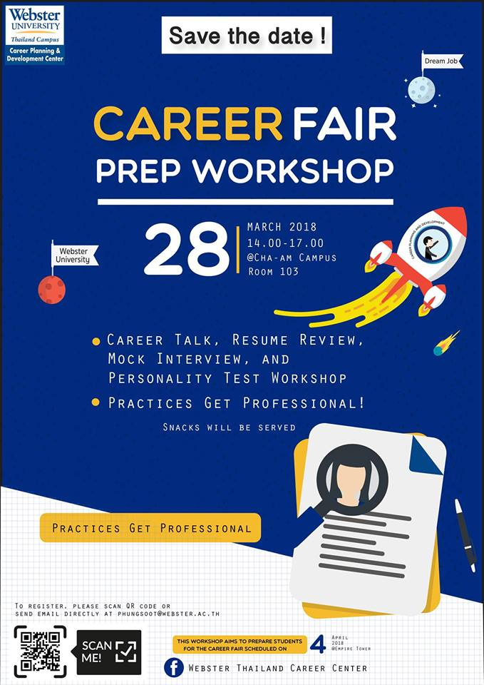 inspire hua hin career fair prep workshop at cha am campus on 28th