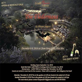 Die Fledermaus at Chom Dong Villa – 8th & 9th December 2018