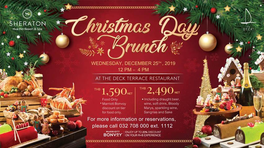 Christmas Hua Hin 2020 Christmas Day Brunch at Sheraton Hua Hin Resort & Spa – Wednesday