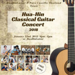 Hua-Hin Classical Guitar Concert 2018 at HuaHinGuitar on 22nd January 2018