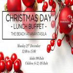 Christmas Day Lunch Buffet - The Beach at Anantasila Hua Hin 25th December 2017