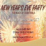 New Year's Eve Party 2017 The Beach at Anantasila Bar and Restaurant - 31st December 2017