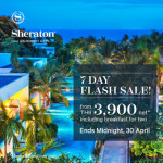 7 DAY FLASH SALE at Sheraton Hua Hin Resort & Spa Ends - 30th April 2017