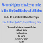 Small Businesses Event in Hua Hin at L'OCCITAN Mediterranean Cuisine - Saturday 8th September 2018