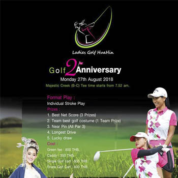Ladies golf 2nd Anniversary at Take 5 Sports Bar & Live Music – Monday 27th August 2018